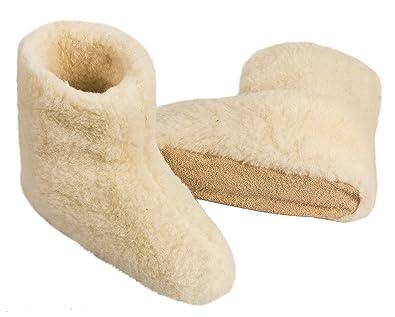 BeComfy Zapatillas para mujeres y hombres Pura lana de oveja HEnjb