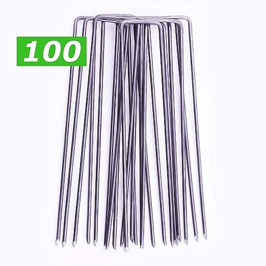 GardenPrime 100 Grapas Metálicas Alambre de Acero 150mm para ...