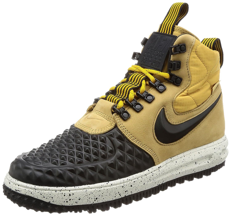 Nike Lunar Force 1 Duckboot 17 916682-701 Herren Boots High Top Air Sneaker Stiefel Leder Lunarlon Wasserabweisend LF1  42.5 EU|Braun (Braun-schwarz)
