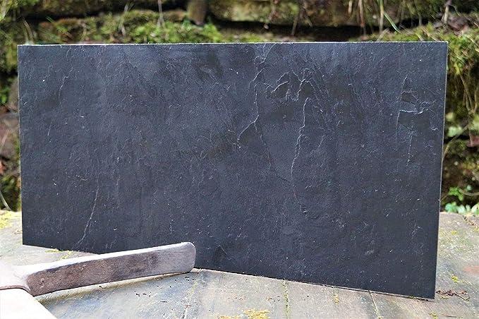 Magnettafel Echt Schiefer 4 In 1 (Magnetwand+Kreidetafel+Pinnwand+Wandbild) Naturstein Magnetboard inkl 1x Steinmagnet und 1x