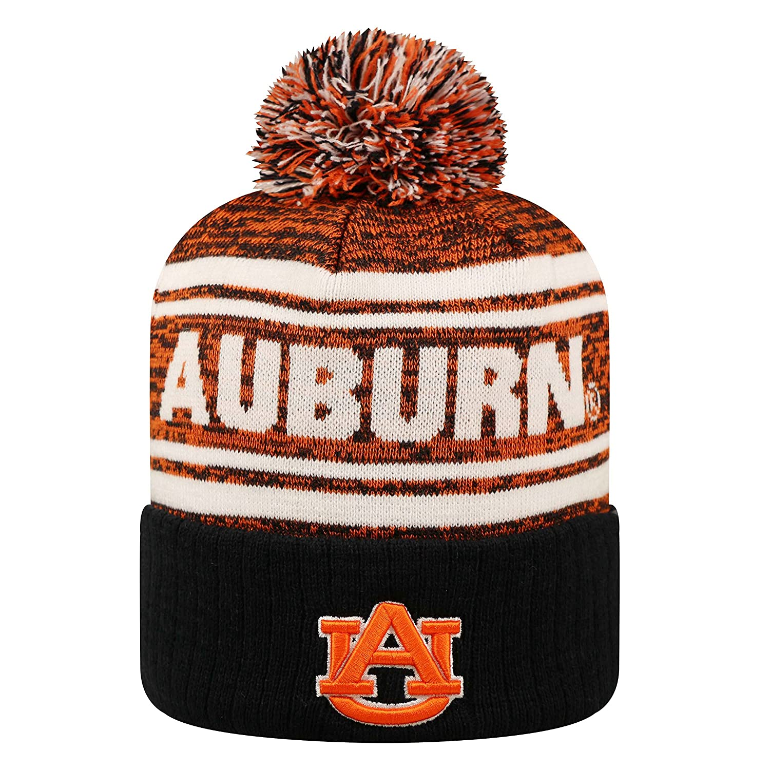 Caps & Hats Auburn Tigers TOW Navy Leisure Knit Slouchy Hipster Hanging Beanie Hat Cap