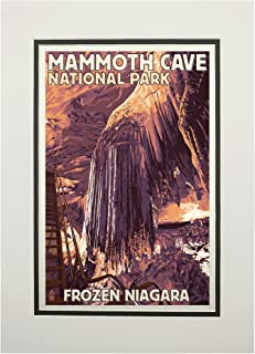 product image for Mammoth Cave, Kentucky - Letterpress (11x14 Double-Matted Art Print, Wall Decor Ready to Frame)