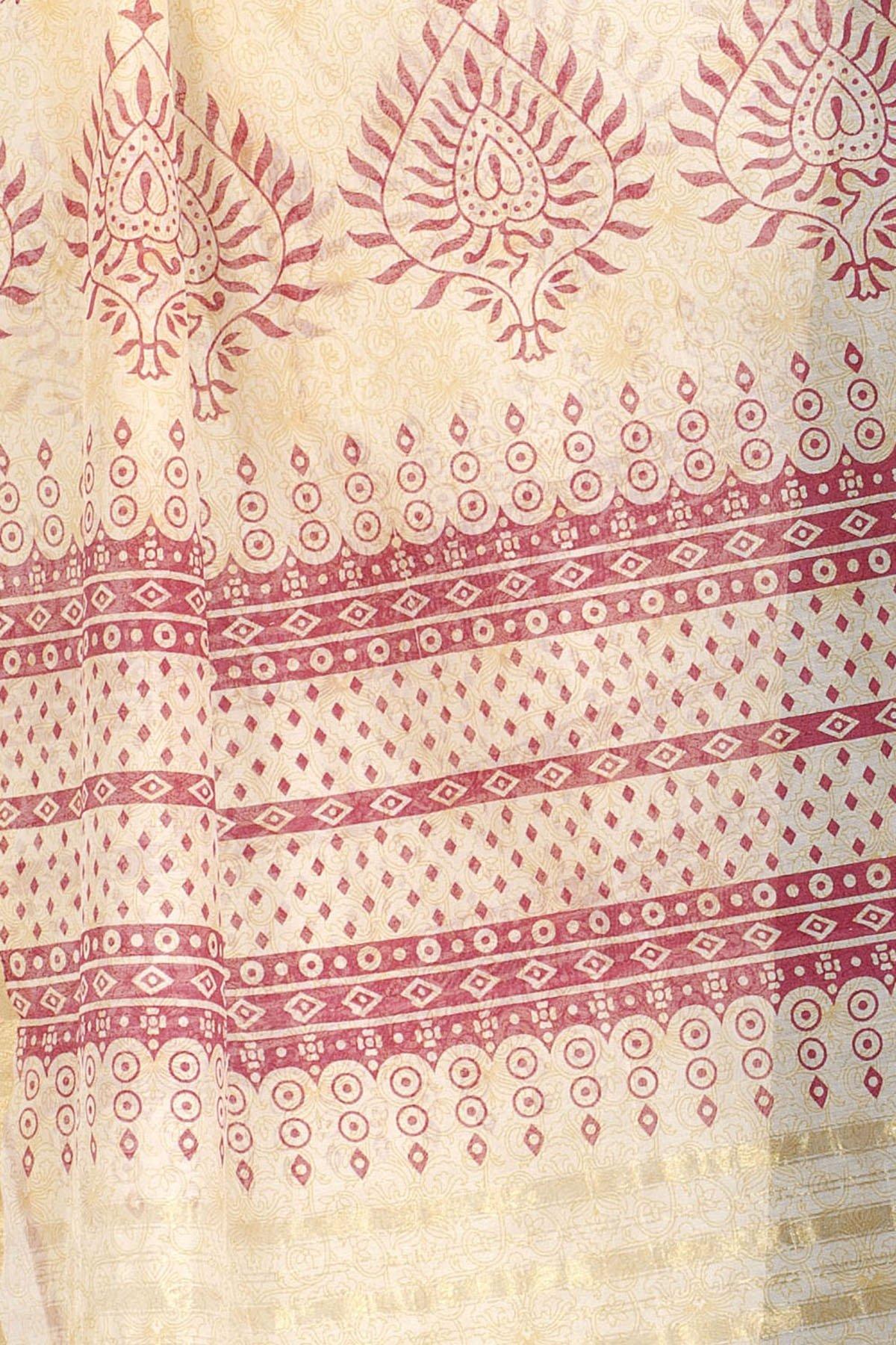 Chandrakala Women's Handwoven Resham work Banarasi Dupatta Stole Scarf (Red) by Chandrakala (Image #4)