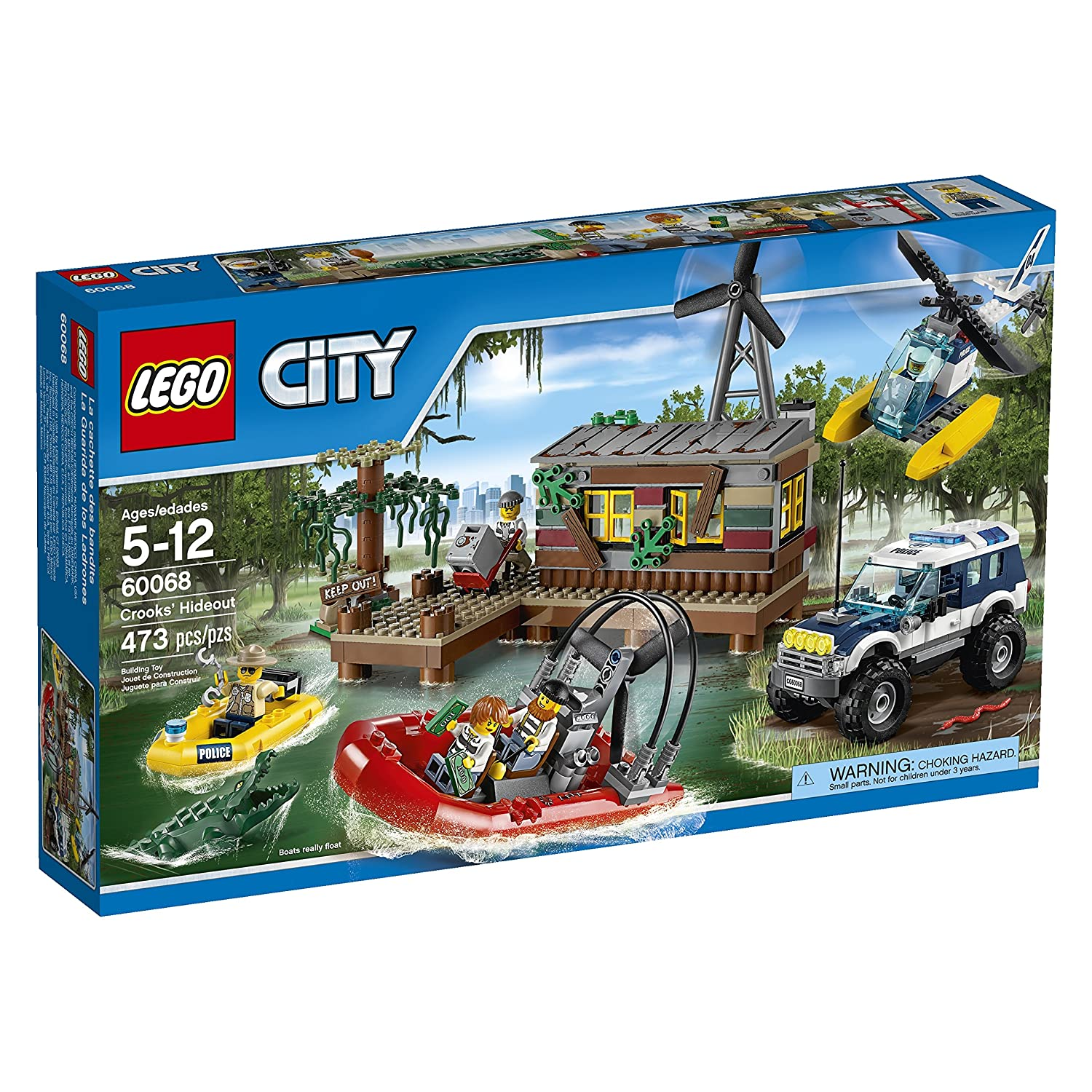 Amazoncom Lego City Police Crooks Hideout Discontinued By