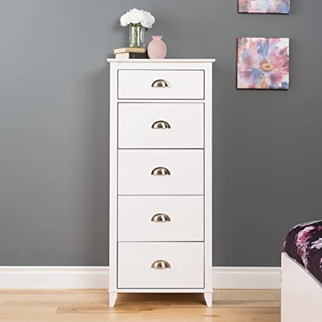Amazon.com: Prepac Yaletown 5-Drawer Tall Pecho, color ...