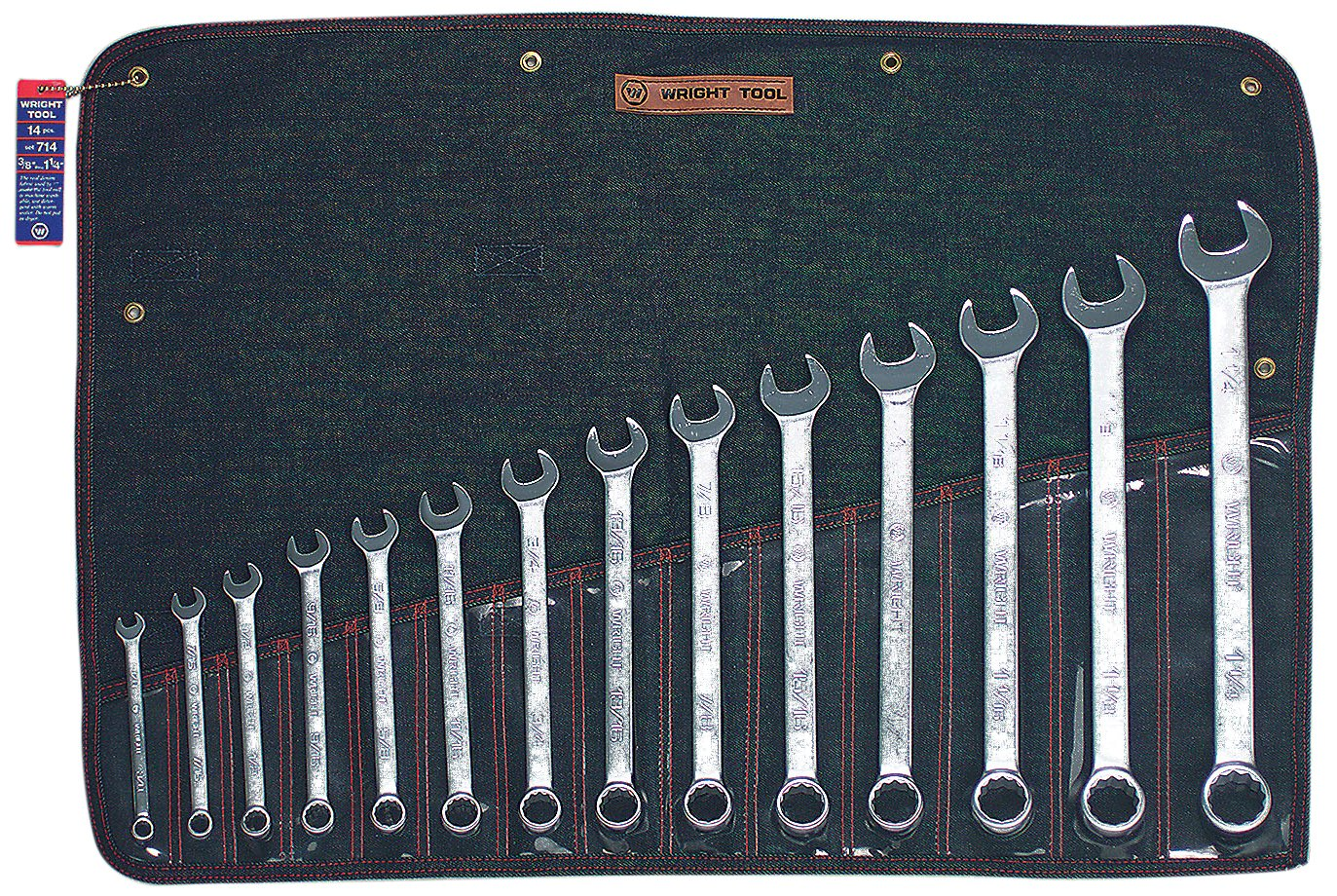 Wright Tool 714 Wrightgrip 14-Piece 12-Point Combination Wrench Set by Wright Tool  B001HW8AOI