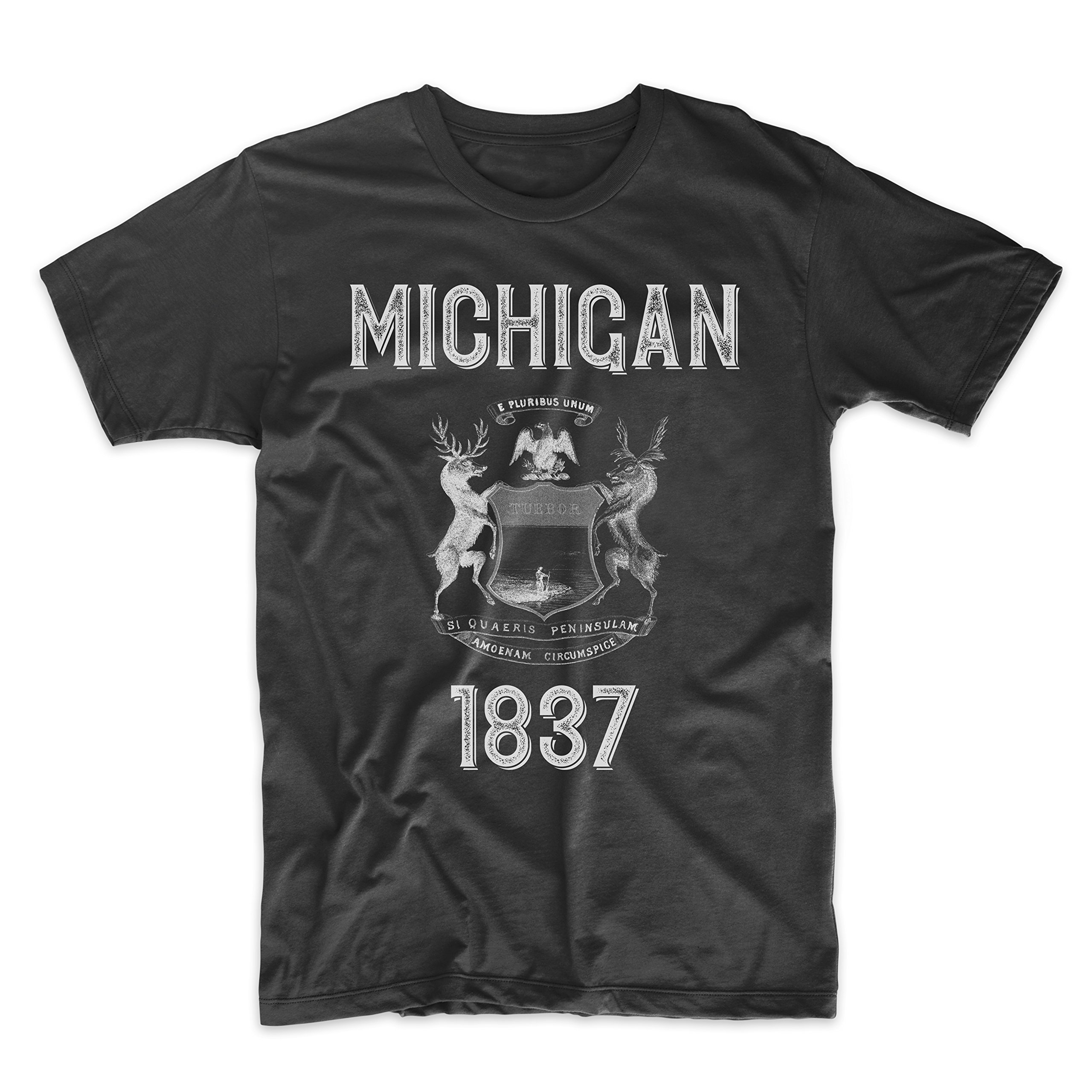 PatentPrints Michigan Coat of Arms T Shirt