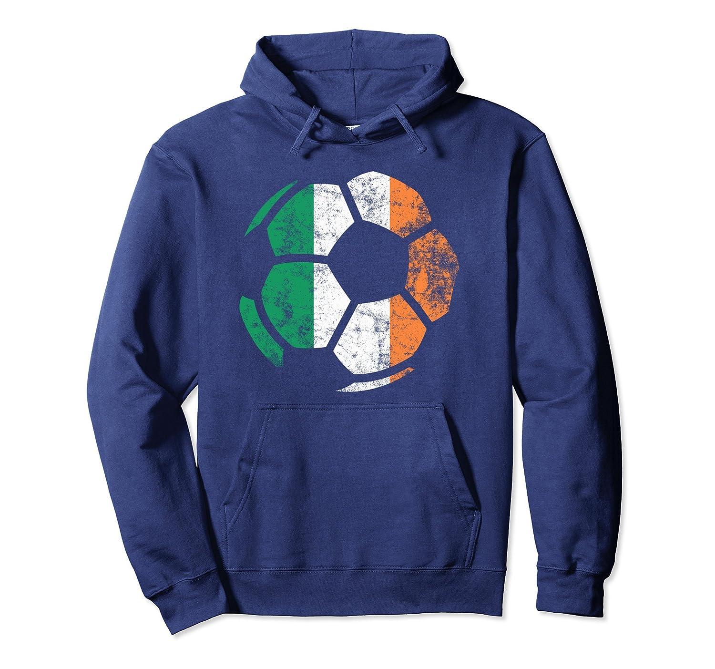Irish Flag Soccer Football St. Patrick's Day Sports Hoodie-Colonhue