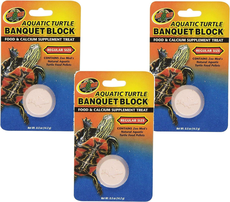(3 Pack) Zoo Med Aquatic Turtle Banquet Blocks