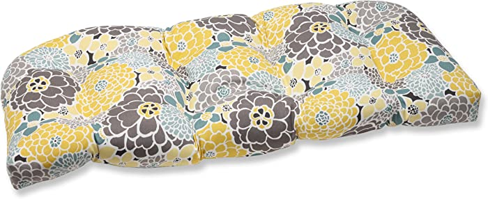 Pillow Perfect Outdoor Full Bloom Wicker Loveseat Cushion