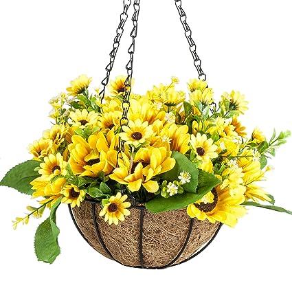 Amazon Ibeutes 78 Inch Artificial Hanging Flower Sunflower