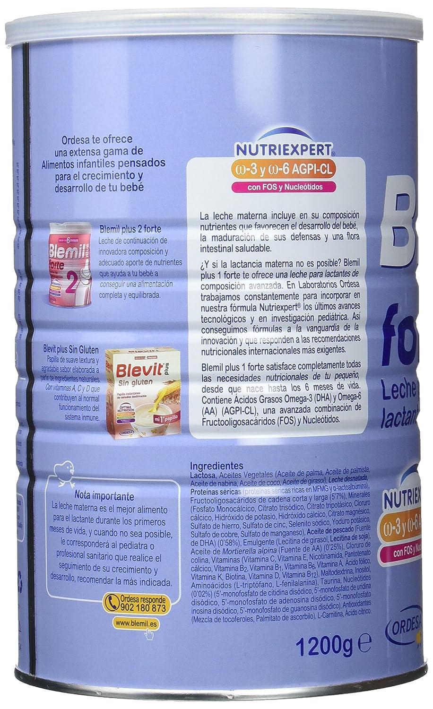 Blemil Plus Forte 1, Leche para Lactantes - 1200 gr: Amazon.es: Amazon Pantry