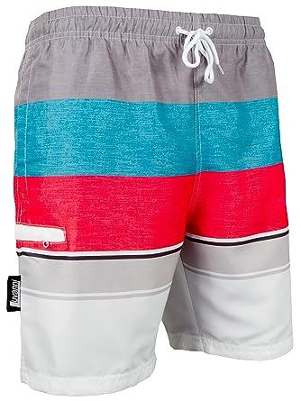 3997f9562 Luvanni Banador de Natacion para Hombre Traje de Bano Rayas Stripe Deportivos  Short para Natacion Playa Piscina Print   Amazon.es  Ropa y accesorios