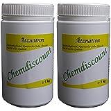 2 x 1kg Ätznatron (Ätzsoda NaOH Natriumhydroxid) Mikroperlen, versandkostenfrei!