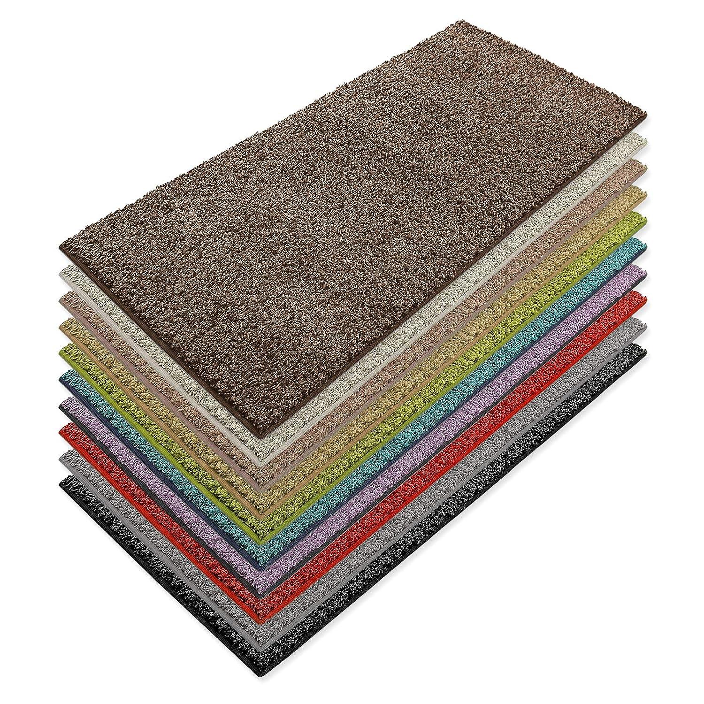 Teppich Läufer Luxury | moderne Shaggy Optik mit flauschigem Hochflor | Teppichläufer in vielen Farben für Flur, Schlafzimmer, Wohnzimmer etc. | viele Breiten und Längen (100 x 300cm, nougat)