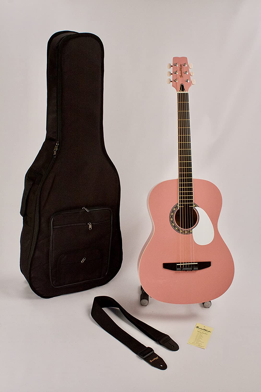 Guitarra acústica 6 cuerdas cuerdas de acero Folk tamaño rosa ...