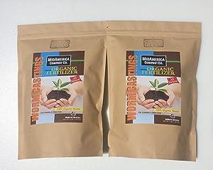 MidAmerica Compost Co. Worm Castings 2lbs Organic Fertilizer