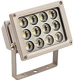 as - Schwabe 46900 12W Profi-LED-Strahler ohne Zuleitung, für die Wand- oder Stativbefestigung. IP65 Gewerbe, Baustelle
