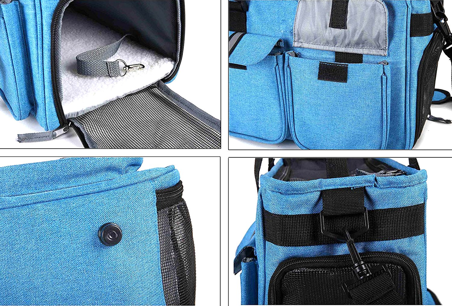 Pettom Dog Carrier Pet Airline Approved Cat Travel Bag with Fleece Mat Pet Carrier Purse Durable for Small Dogs Cats Puppies Kittens Rabbits
