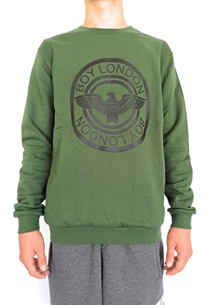 Boy London - Sudadera para Hombre Verde Militar de Verde, Verde L: Amazon.es: Ropa y accesorios