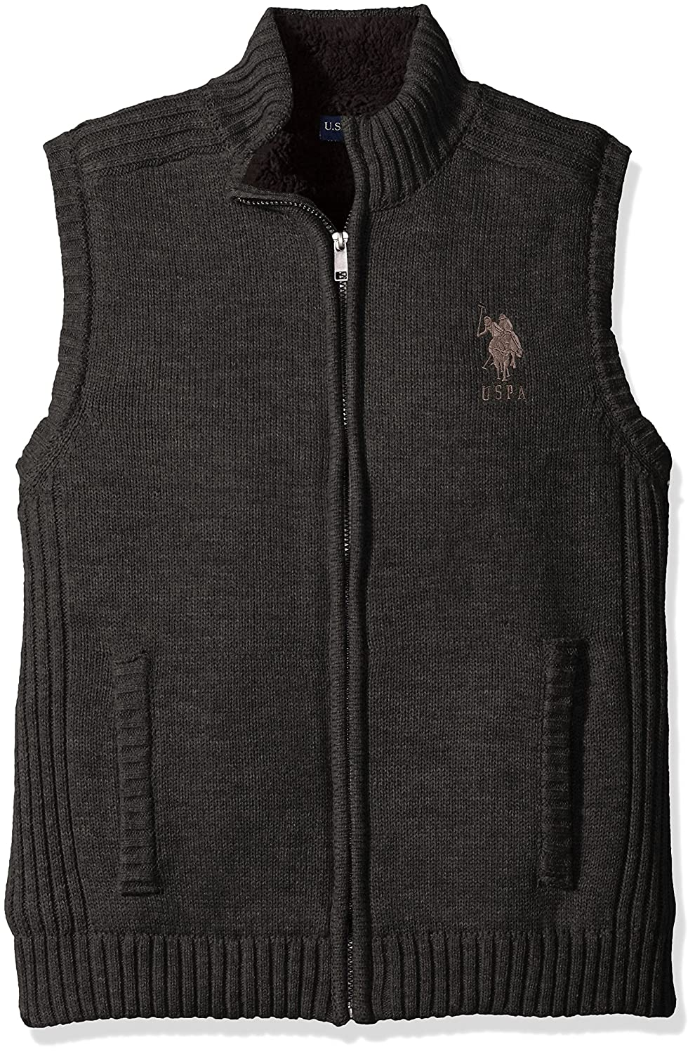 Polo Assn Sweaters License ACUV45621 Mens Lined Full Zip Vest U.S U.S Polo Assn