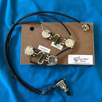 amazon com es175 gibson prebuilt 50 s wiring harness kit pio es175 gibson prebuilt 50 s wiring harness kit pio k42y 2 vintage russian tone caps