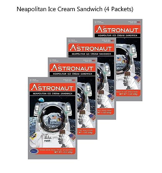 Astronaut Foods Helado napolitano, 4 piezas