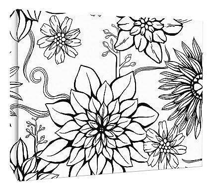 amazon jp london mcnv2462 floral outline black daisy 2 thick Typar House Wrap jp london mcnv2462 floral outline black daisy 2 quot thick heavyweight gallery wrap canvas