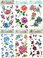 6 sheets temporary tattoo stickers wedding favors