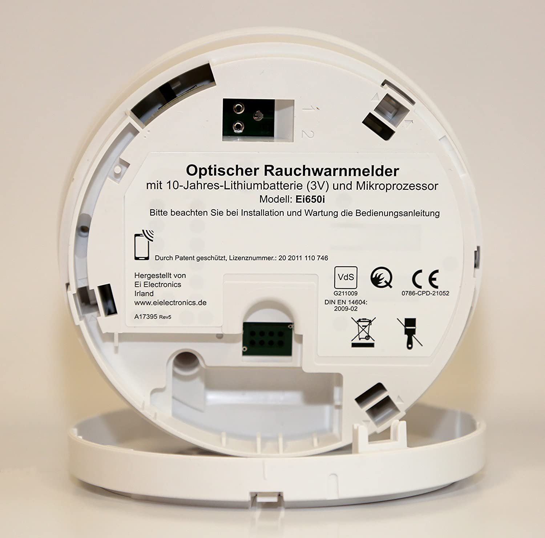 Ei Electronics Ei650i - Detector de humo (Batería, 0 - 40 °C, -10 - 60 °C, 15 - 95%, Litio): Amazon.es: Bricolaje y herramientas