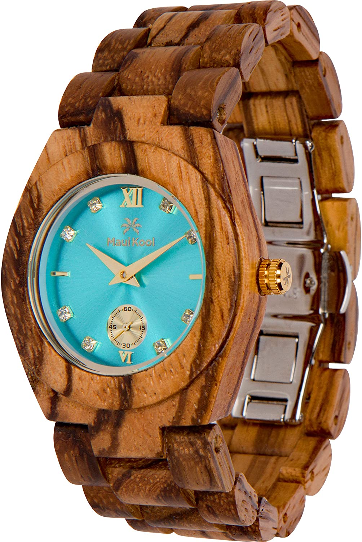 Amazon.com: Maui Kool Wooden Watch Hana Collection for Women Analog ...