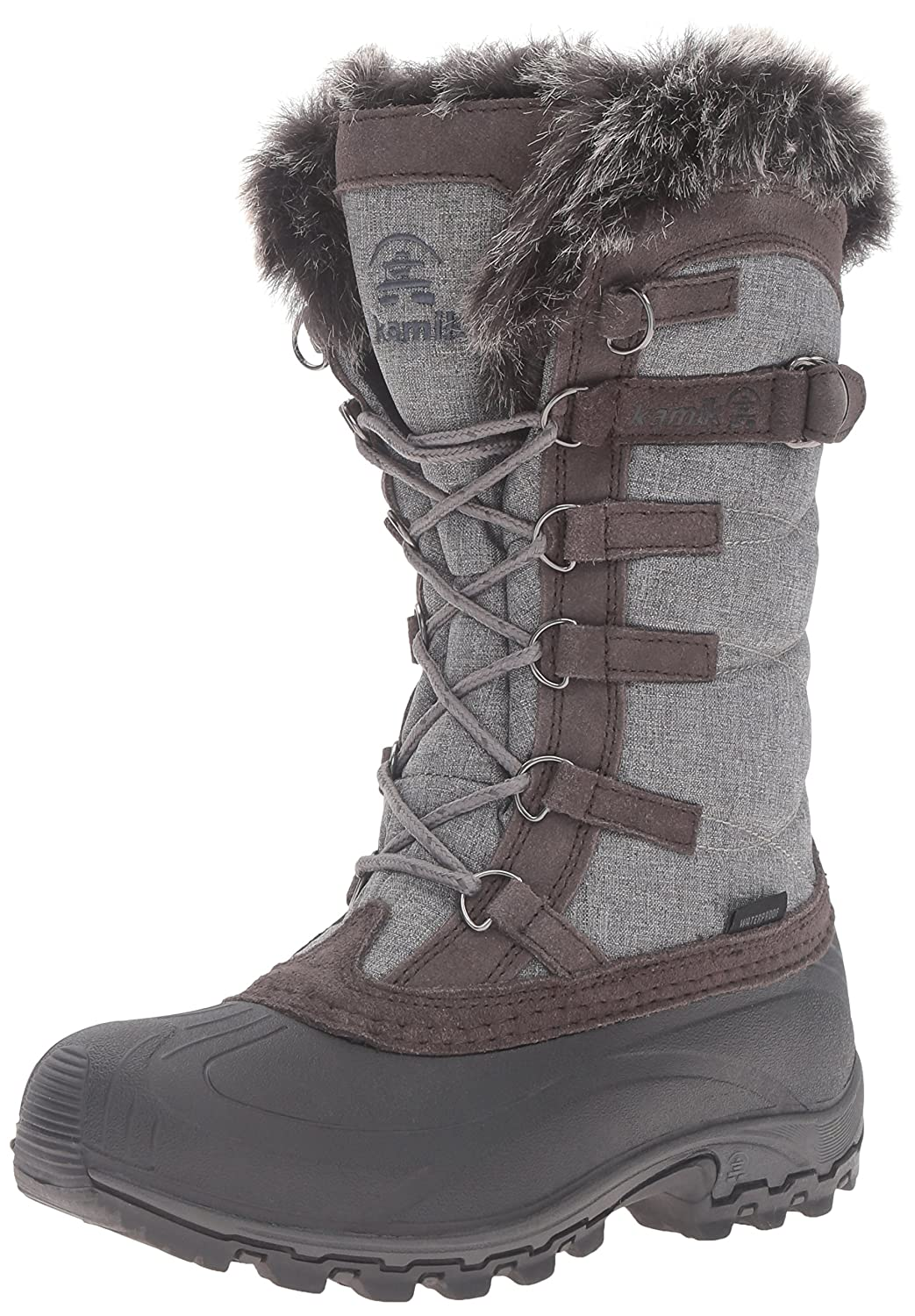 Kamik Women's Snowvalley Boot B0198WOKRE 10 B(M) US|Charcoal/Brown