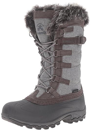 Kamik Women's Snowvalley Snow Boot, Charcoal, ...