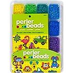 Perler Beads - Bandeja de abalorio para manualidades con abalorio de perler (4001 unidades)