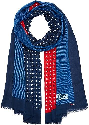 Tommy Hilfiger THD Flag, Bufanda para Mujer, Multicolor (Corp Colours), Talla única (Talla del fabri...