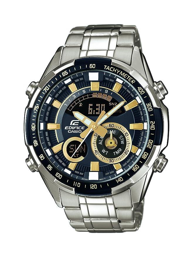 Casio Reloj Analógico-Digital para Hombre de Cuarzo con Correa en Acero Inoxidable ERA-600D-1A9VUEF: Amazon.es: Relojes