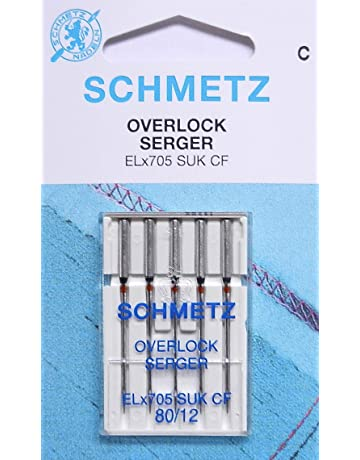 5 Schmetz Agujas para Máquinas de Coser para máquinas overlock ELx705 SUK CF grosor{80