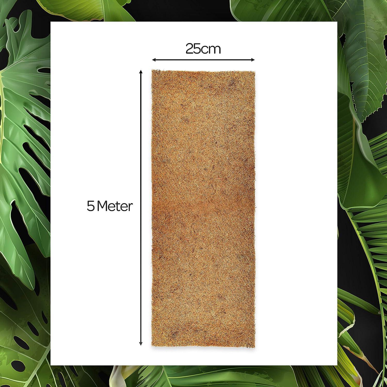 25cm x 5m Rolle Anzuchtmatte mit Latex Baumschutz Meterware Naturprodukt Kokosmatte aus 100/% Kokosfasern Winterschutz und K/älteschutz f/ür Pflanzen