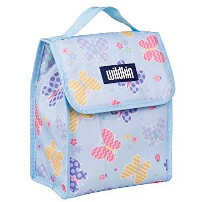 Wildkin Kids Insulated Lunch Bag for Boys and Girls, Lunch Bags is Ideal Size for Packing Hot or Cold Snacks for School and Travel, Mom's Choice Award Winner, BPA-Free, Olive Kids (Butterfly Garden): Toys & Games