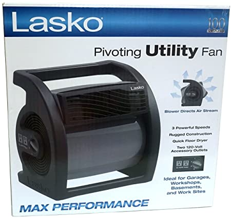 Lasko Max Performance Pivoting Utility Fan Model U15720