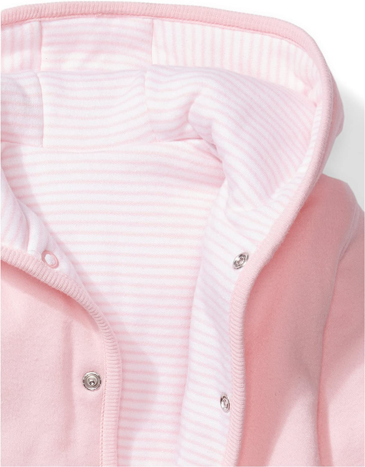 Pink Blush, Moon and Back Baby Reversible Jacket with Hood