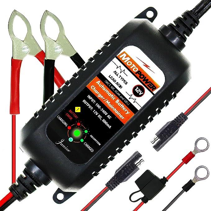 113 opinioni per MOTOPOWER MP00205A 12V 800mA Completamente Automatico Caricabatterie/manutentore