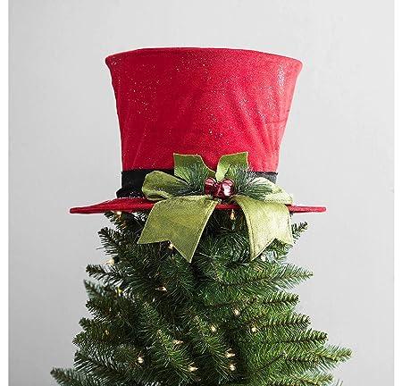 HM Árbol de Navidad Topper-Top Sombrero Árbol Topper Decoración de ...