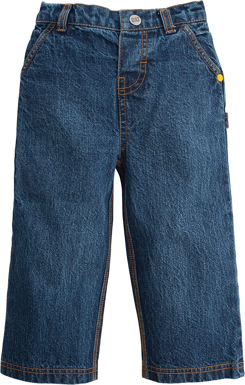 Caterpillar Baby Boys' Carpenter Jean, Denim, 12 Month: Clothing