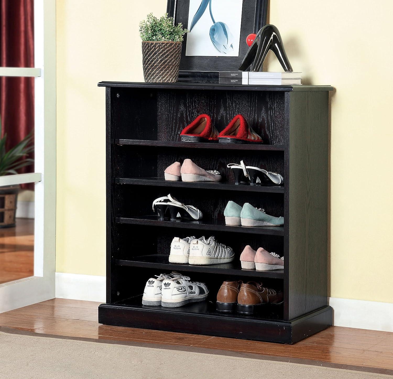 Captivating Amazon.com: Furniture Of America Laires 5 Shelf Open Shoe Cabinet, Oak:  Kitchen U0026 Dining