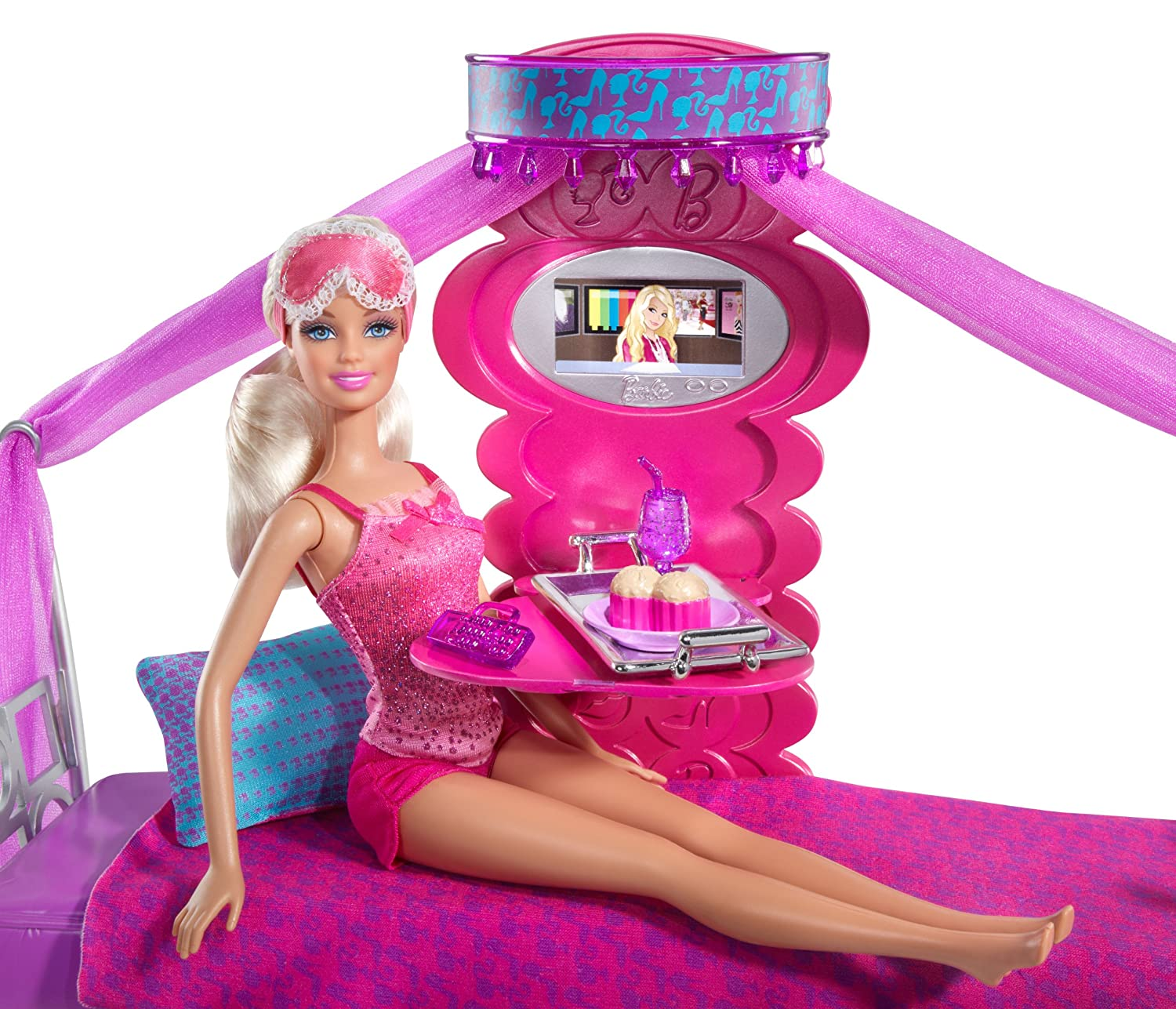 Barbie Bed To Breakfast Deluxe Bedroom and Doll Set  Furniture   Amazon  Canada. Barbie Bed To Breakfast Deluxe Bedroom and Doll Set  Furniture