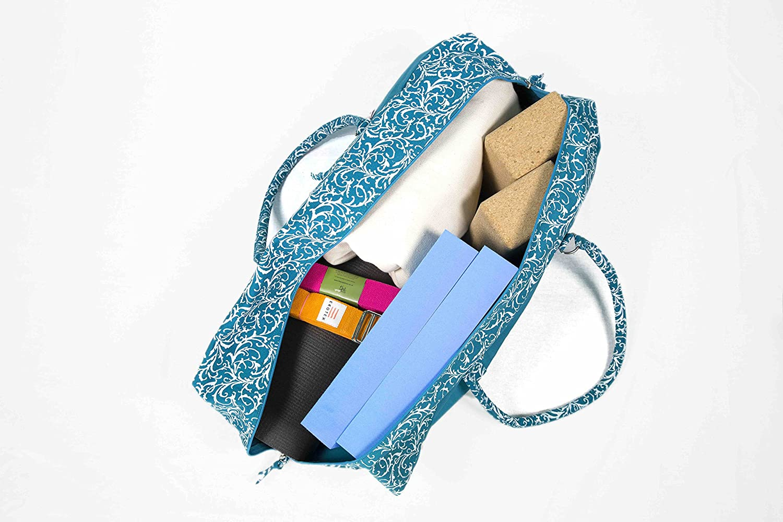 Blue Patterned Ocean Deluxe Yoga Kit Bag