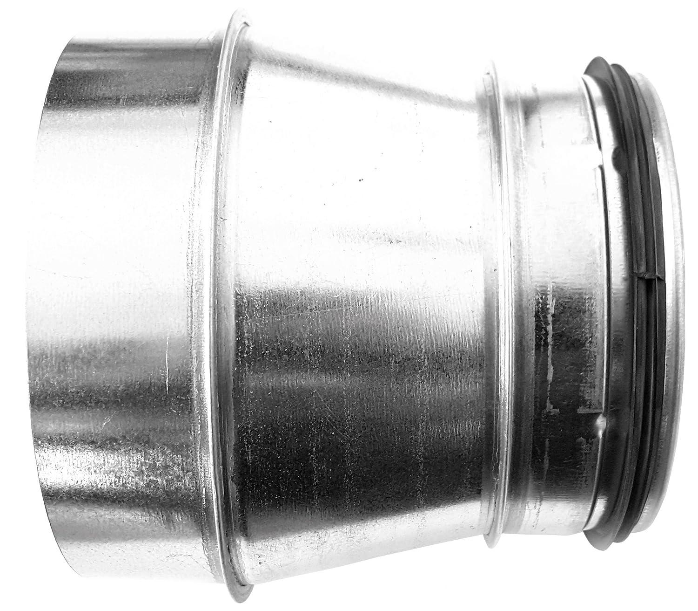 DN 125 // DN 80 Wickelfalzrohr Reduzierung Muffe DN 80 100 125 150 160 180 200 250 mm auf Nippel mit Doppellippendichtung
