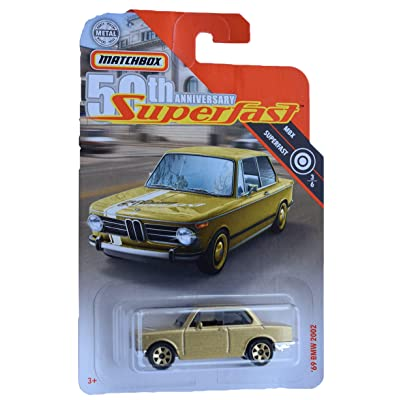 Matchbox Super Fast 50th Anniversary '69 BMW 2002, Gold: Toys & Games