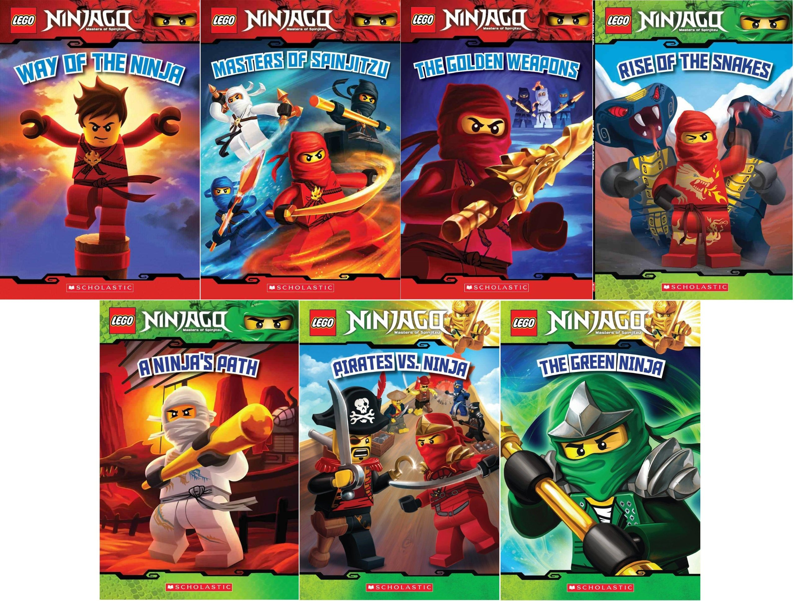 LEGO« Ninjago Reader Pack: 7 Book Set: #1: Way of the Ninja ...